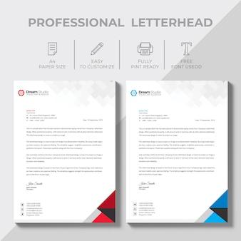 Modèle de conception créative papier à en-tête