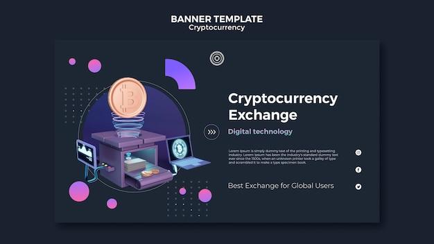 Modèle de conception de crypto-monnaie de bannière