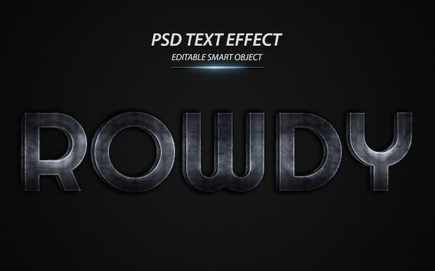 Modèle de conception d'effet de texte rowdy