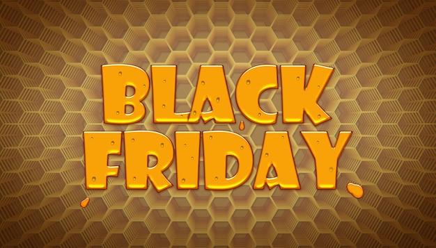 Modèle de conception d'effet de texte de vente vendredi noir