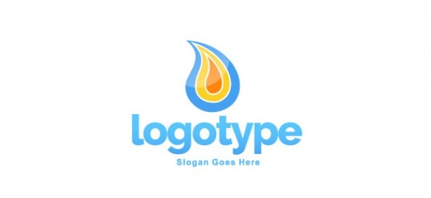 Modèle de conception flamme logo
