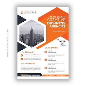 Modèle de conception de flyer agence de création d'entreprise