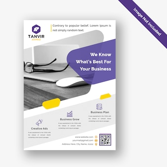 Modèle de conception de flyer d'entreprise moderne psd