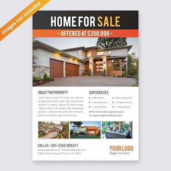 Modèle de conception de flyer immobilier d'entreprise