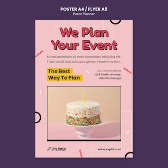 Modèle de conception de flyer de planificateur d'événements