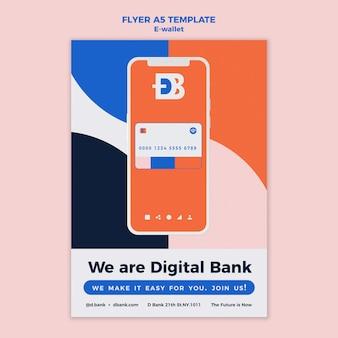 Modèle de conception de flyer de portefeuille électronique