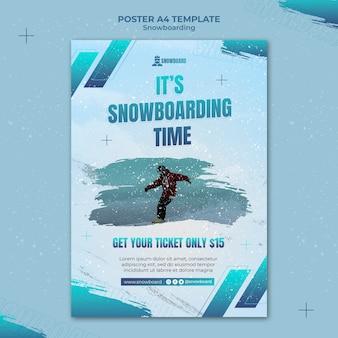 Modèle de conception de flyer de snowboard