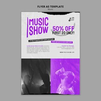 Modèle de conception de flyer de spectacle de musique
