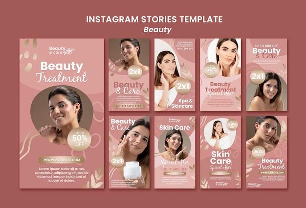 Modèle de conception d'histoires de beauté instagram