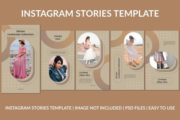 Modèle de conception d'histoires instagram créatives de mode