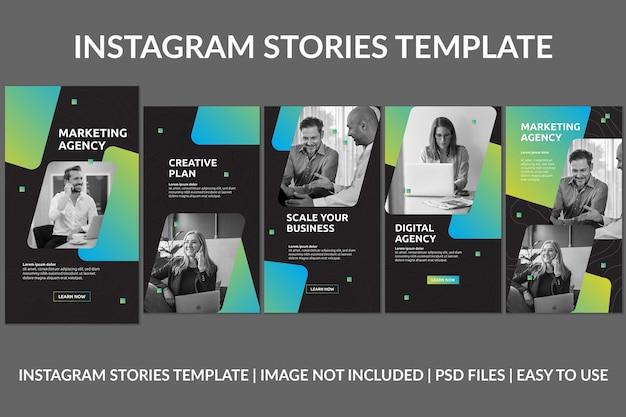 Modèle de conception d'histoires instagram d'entreprise