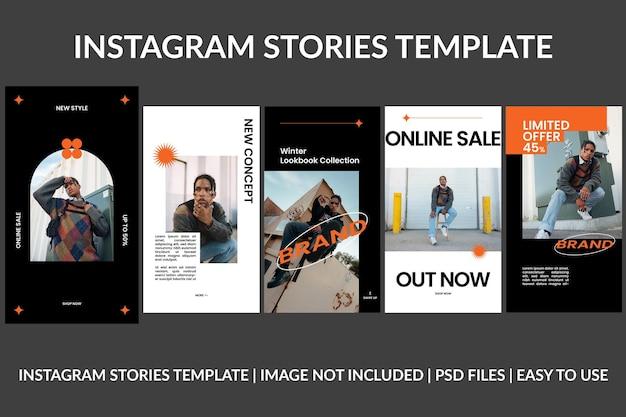 Modèle de conception d'histoires instagram de marque de mode