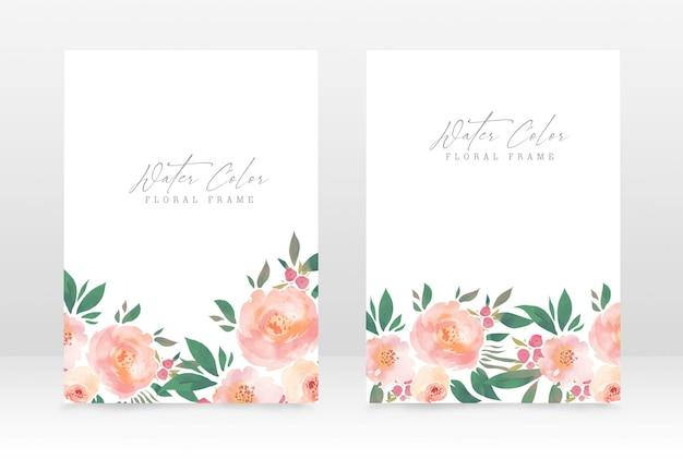 Modèle de conception d'invitation de mariage et de fête de style aquarelle classique