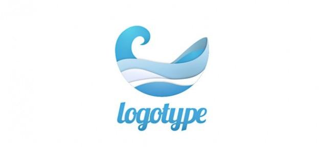 Modèle de conception de logo aqua-