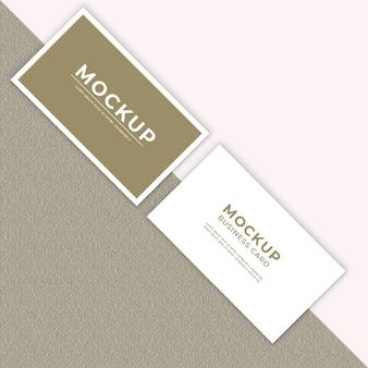Modèle de conception de maquette de carte de visite minimaliste