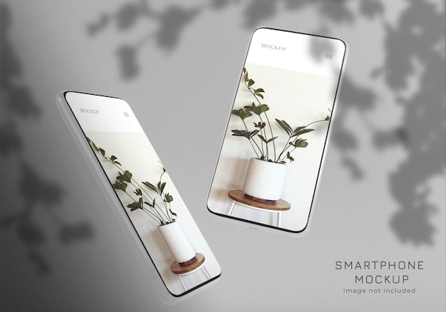Modèle de conception de maquette de smartphone minimaliste flottant
