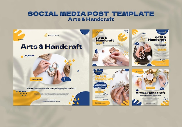 Modèle de conception de médias sociaux pour les arts et l'artisanat