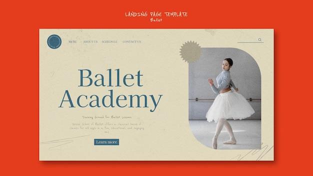 Modèle de conception de page de destination de ballet