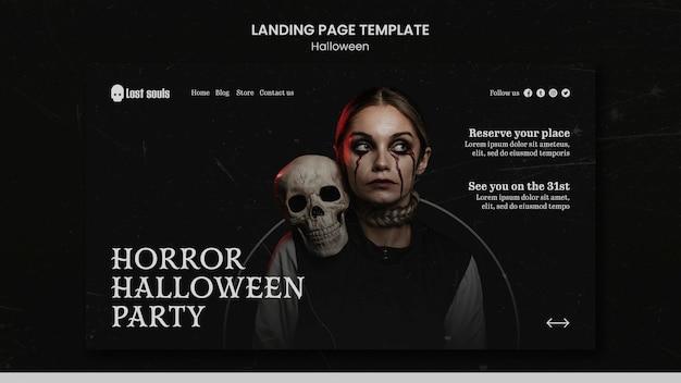 Modèle de conception de page de destination halloween