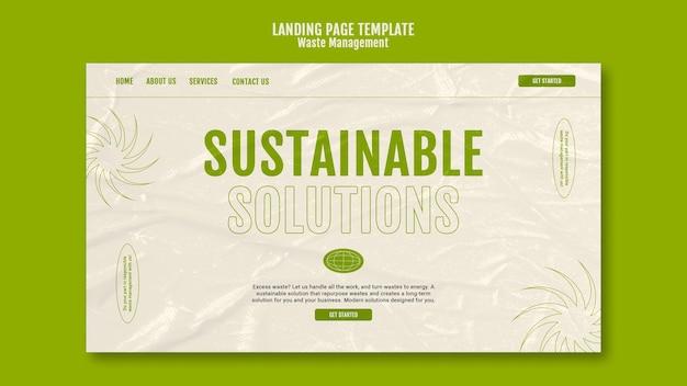 Modèle de conception de page de destination pour la gestion des déchets
