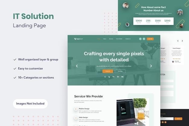 Modèle de conception de page de destination de site web polyvalent