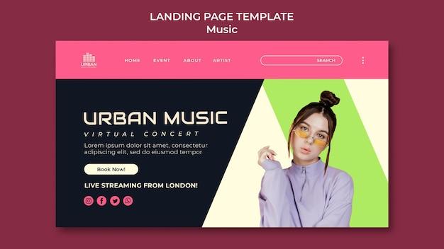 Modèle de conception de page de destination de spectacle de musique
