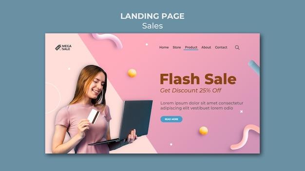 Modèle de conception de page de destination de vente
