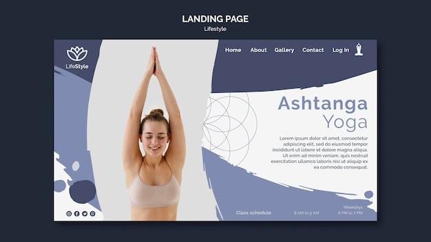 Modèle de conception de page de destination de yoga
