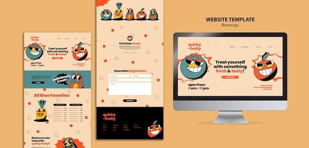 Modèle de conception de personnages de boissons de site web