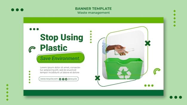 Modèle de conception de poste de bannière de gestion des déchets