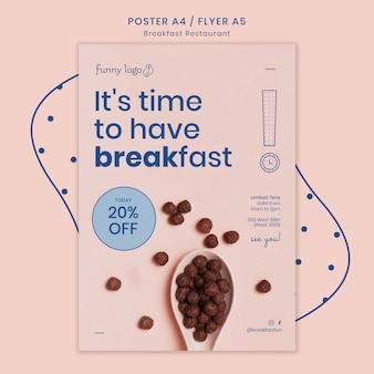 Modèle de conception pour l'affiche de restaurant