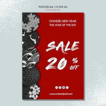Modèle de conception pour le nouvel an chinois