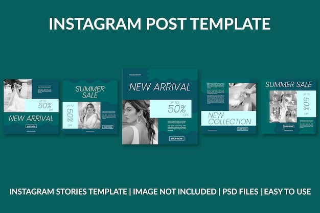 Modèle de conception de publication instagram de cosmétiques verts