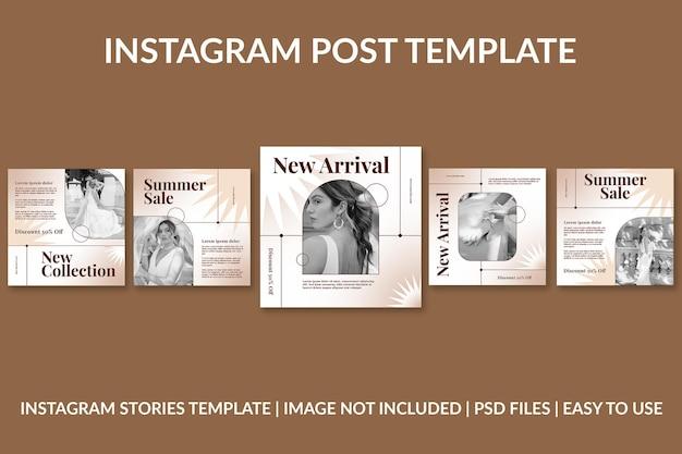 Modèle de conception de publication instagram simple de mode