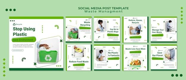 Modèle de conception de publication sur les médias sociaux pour la gestion des déchets