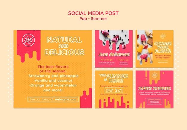 Modèle de conception de publication sur les médias sociaux à thème gratuit