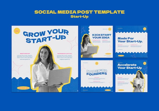 Modèle de conception de publication sur les réseaux sociaux de démarrage insta