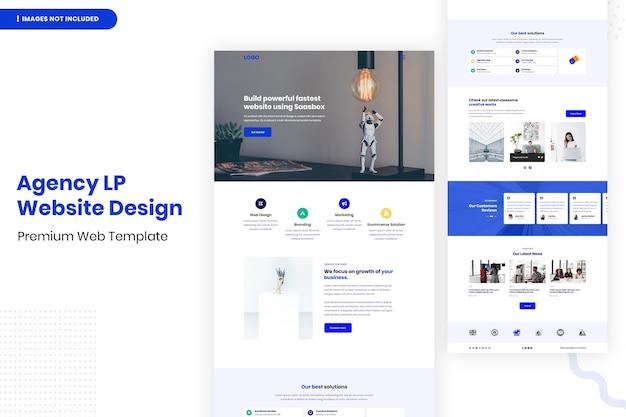 Modèle de conception de site web d'agence lp