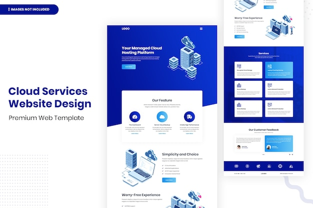 Modèle de conception de site web de services cloud