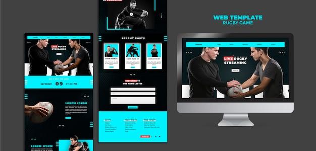 Modèle de conception de sites web de jeu de rugby