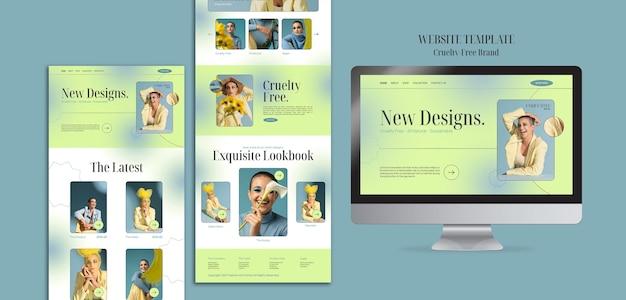 Modèle de conception de sites web de marque sans cruauté