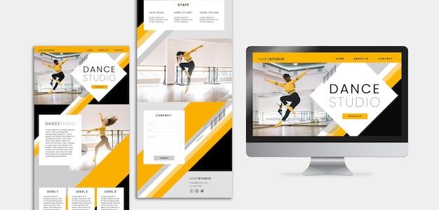 Modèle avec conception de studio de danse