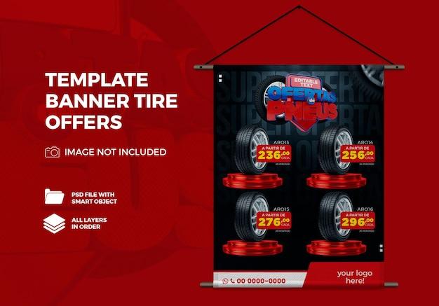 Modèle de conception vertical banner offres de pneus au brésil