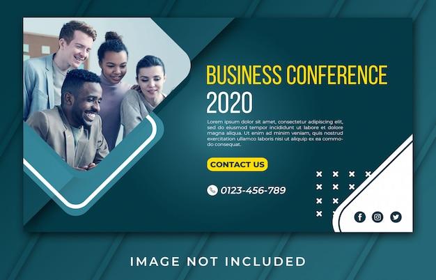Modèle de conférence d'affaires bannière 2020