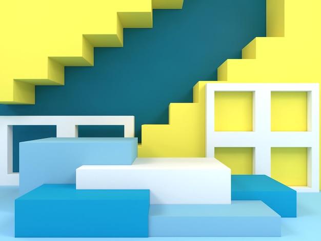 Modèle de couleur pastel de forme géométrique abstraite, scène de podium de stand d'affichage mural de style moderne minimal