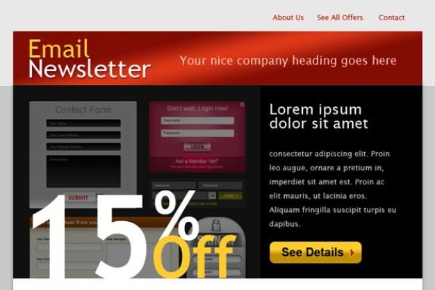 Modèle de courrier électronique html