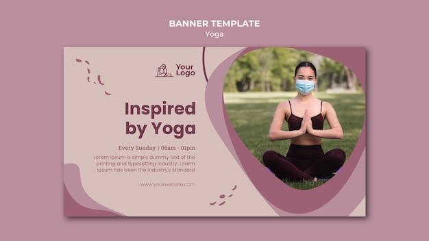 Modèle de cours de yoga bannière