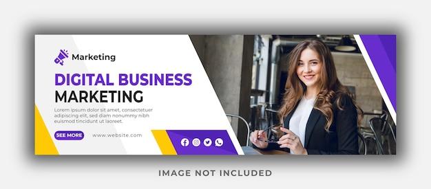 Modèle de couverture et de bannière web pour le marketing d'entreprise numérique