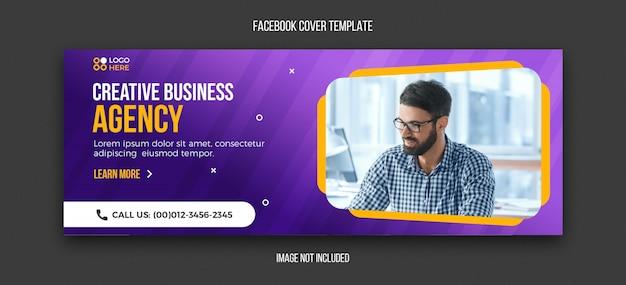 Modèle de couverture facebook agence moderne