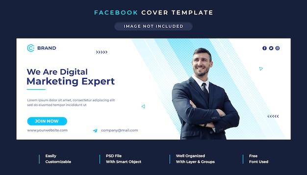 Modèle de couverture facebook et de bannière web pour agence de marketing numérique et de création d'entreprise